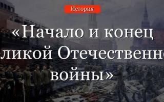 Великая отечественная война кратко. Начало великой отечественной войны