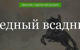 Анализ поэмы «Медный всадник» А. С