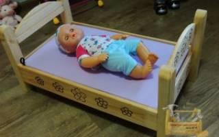 Кроватка из картона для игрушек. Кукольная кроватка-качалка своими руками