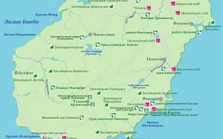 Карта хайнань на русском языке с названиями. Карта хайнаня на русском языке