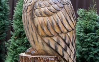 Сова из сказки. Делаем деревянную скульптуру совы из пня