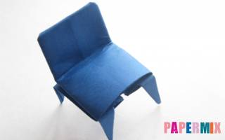 Стул из бумаги оригами. Как сложить из бумаги стул. Бумажный стул оригами