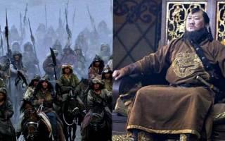 Краткая биография чингисхана. Сыновья Чингисхана
