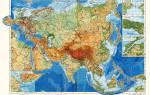 Карта евразии с городами. Евразия на карте