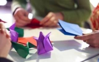 Простое оригами для детей 4 5 лет