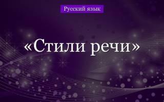 Речь и язык. Стили речи в русском языке