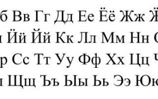 Алфавит с порядковым. Русский алфавит