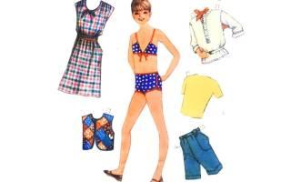 Барби бумажные куклы с нарядами. Как сделать красивую куклу из бумаги