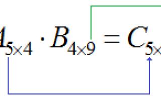 Умножение матриц задания. Матрицы и операции над ними