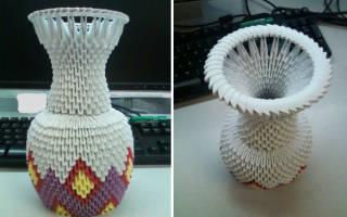Ажурная ваза из модулей. Модульное оригами Ваза. Мастер-класс