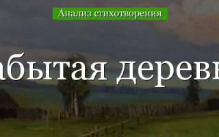 Анализ стихотворения Некрасова «Забытая деревня» (с планом).