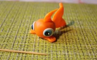 Слепить золотую рыбку из пластилина. Рыбка из пластилина