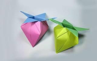 Оригами из бумаги для детей овощи фрукты. Оригами овощи схема