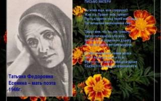 Написал ты жива еще моя старушка. Есенин сергей — письмо матери