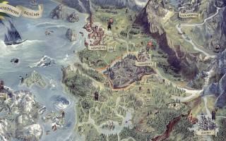 Ведьмак 3 интерактивная карта мира.