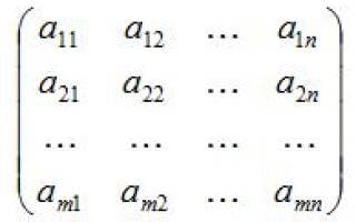 Квадратная матрица называется диагональной если. Понятие матрицы