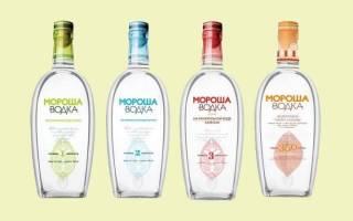 Мороша – украинский экобренд водки на минеральной воде.
