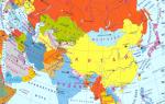 Карта провинций китая на английском. Китай карта на русском языке
