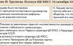 Смещение Н.С.Хрущёва. Бунт верных