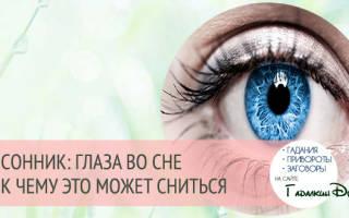 Красивые мужские глаза во сне. К чему снятся Глаза