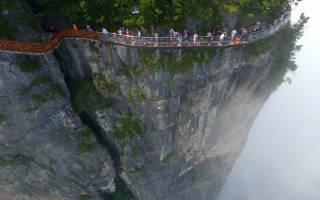 Япония прозрачный мост. Стеклянные мосты китая