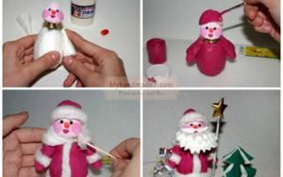 Поделка Дед Мороз: пошаговые мастер-классы с фото.